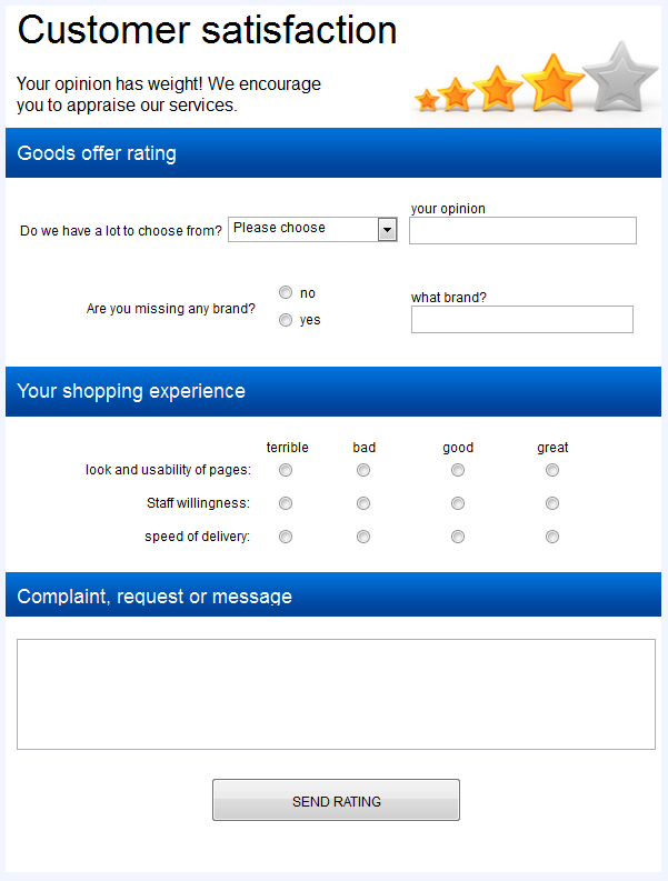 Doc405520 Template Feedback Form MS Word Printable Customer – Customer Contact Form Template