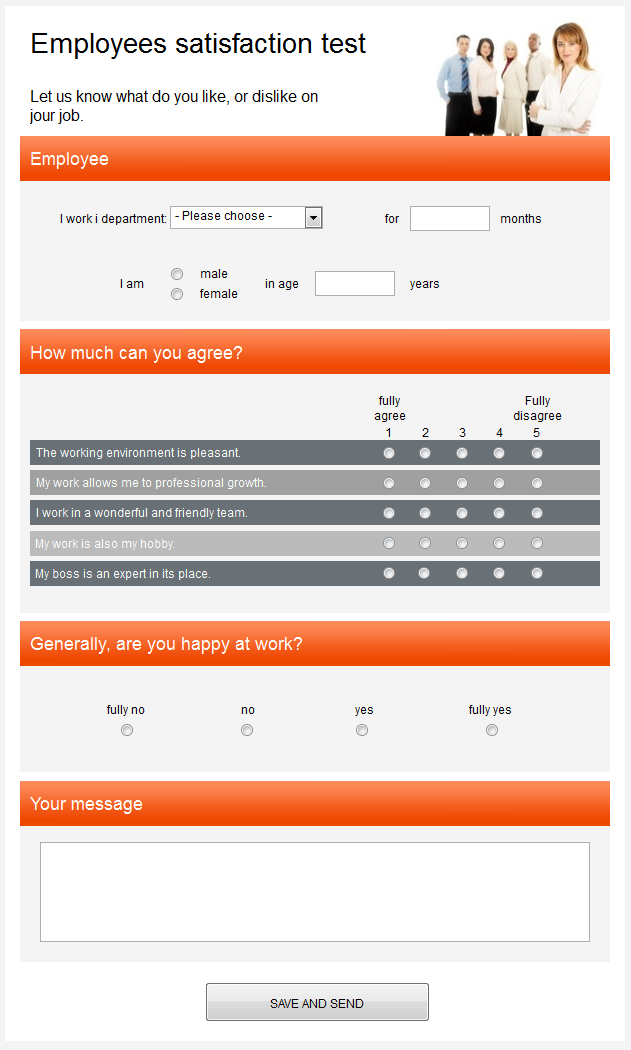 Create Online Surveys - Free Survey Template