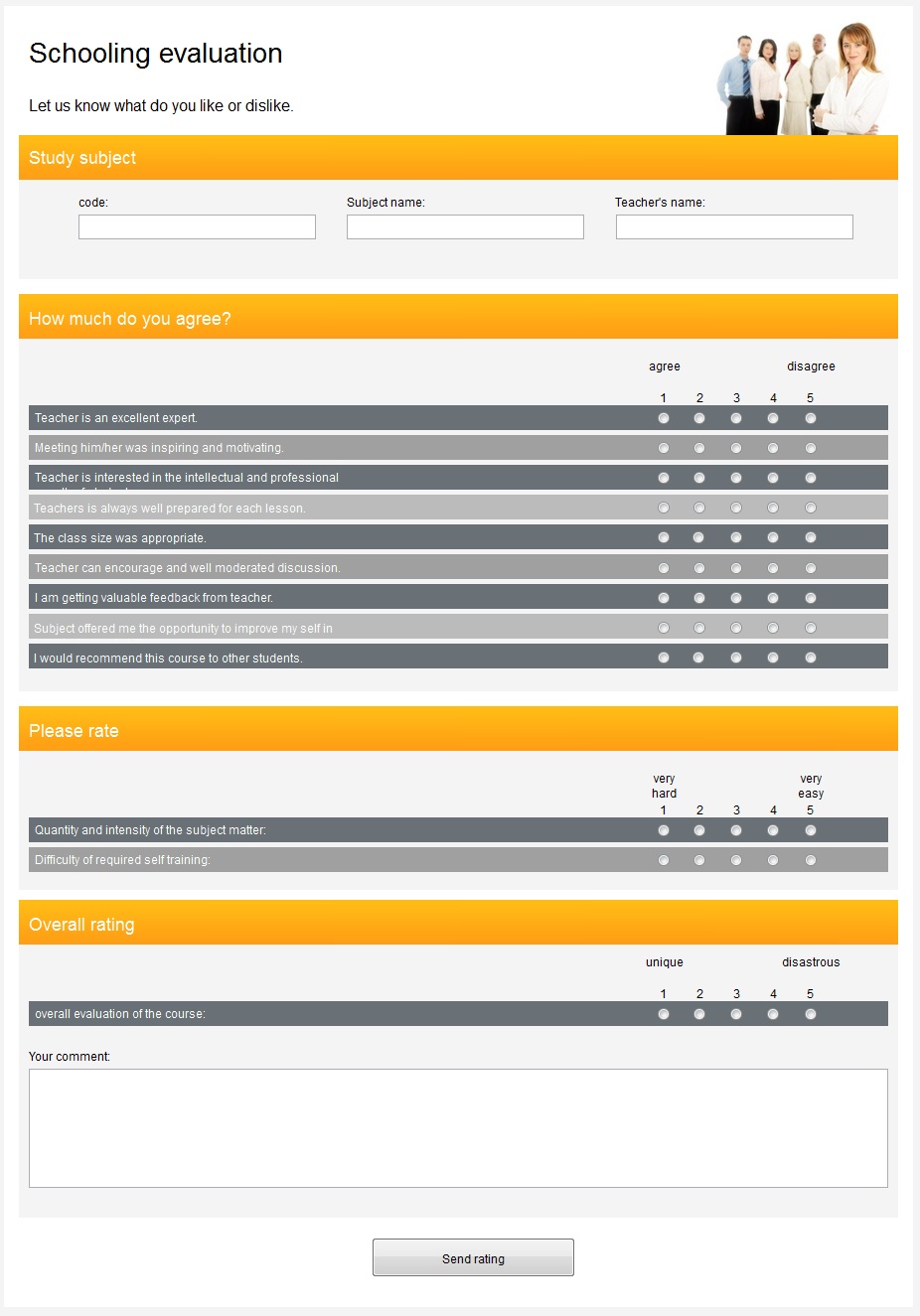 questionnaire template online form builder